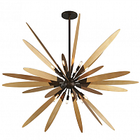 Troy F5278 Dragonfly Modern Bronze With Satin Leaf Large Ceiling Light Pendant Loft Concept 40.2568