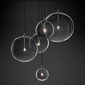 Подвесной светильник Restoration Hardware Glass Globe Mobile Cluster Black
