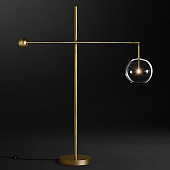 Напольный светильник Restoration Hardware Glass Globe Mobile Lever Lacquered Burnished Brass