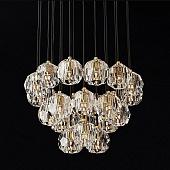 Подвесной светильник Restoration Hardware Boule De Cristal Round Cluster 24 Lacquered Burnished Brass