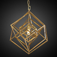 Подвесной светильник CUBIST Chandelier Gold 1 bulbs Loft Concept 40.2116