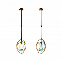 Подвесной светильник LED7 Future Lighting Loft Industry Modern - Green Ovals Pendant