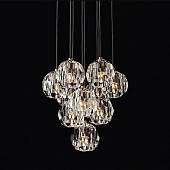 Подвесной светильник Restoration Hardware Boule De Cristal Round Cluster 14 Lacquered Burnished Brass