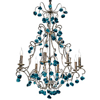 Люстра Crystal Blue Cupertino Chandelier