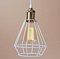 Подвесной светильник Wire Cage Pendant Punch White Loft Concept 40.133