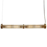 Подвесной светильник Glass TUBE Pendant Double Gold 40.3166-2 Loft-Concept