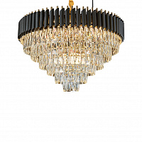 Люстра подвесная LED7 Future Lighting Loft Industry Modern - Black Tubes Odeon Chandelier