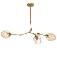 Люстра Сrumpled Glass Bubble Chandelier Gold 3 плафона Loft Concept 40.1324