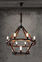 Люстра Loft Chandelier Old Castle Rope Double RH21603