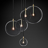Подвесной светильник Restoration Hardware Glass Globe Mobile Cluster Lacquered Burnished Brass