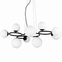 Люстра Bubbles on 4 Rings Chandelier Black