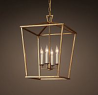 Подвесной светильник 19th C. English Openwork Square Pendant Bronze Loft Concept 40.387