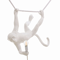 Подвесной светильник Seletti The Monkey Lamp Swing White Loft Concept 40.14875