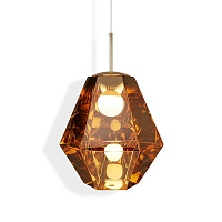 Светильник Cut Tall Pendant Gold by Tom Dixon TD30400