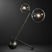 Настольная лампа Restoration Hardware Glass Globe Mobile Boom Black